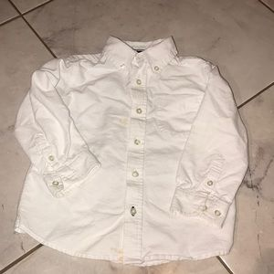 Kids Sz 3T White Long Sleeve Button Up